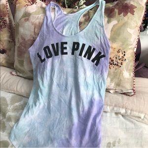 Victoria Secret pink tie dye top